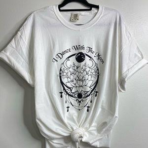 Glittery moon lotus shirt